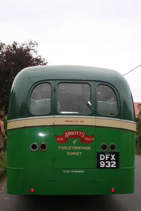 Abbotts Bus at Piddletrenthide, Aug 2012