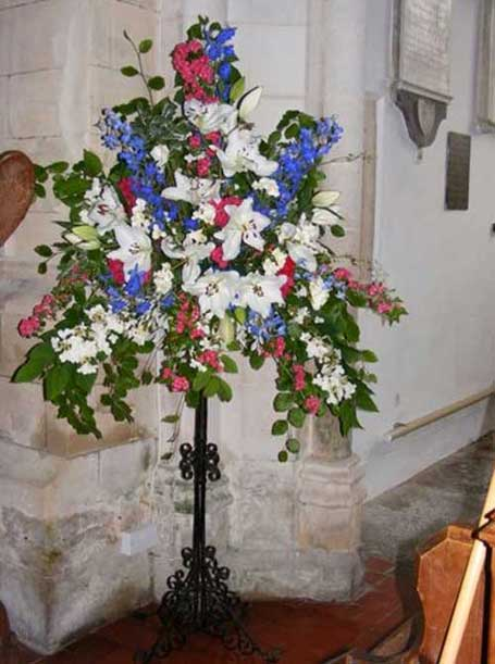 Flowers in St Mary's.