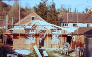 Picture of the Hall being built