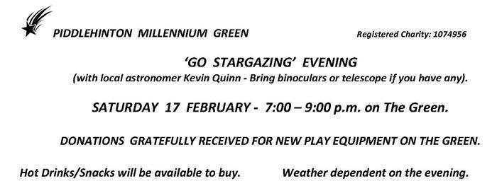 Flyer for Stargazy event