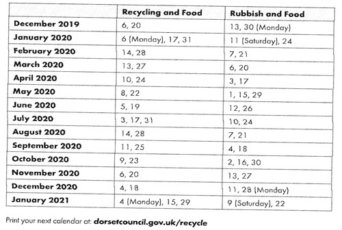 Recycling Calendar