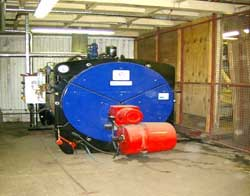Picture of methane boiler